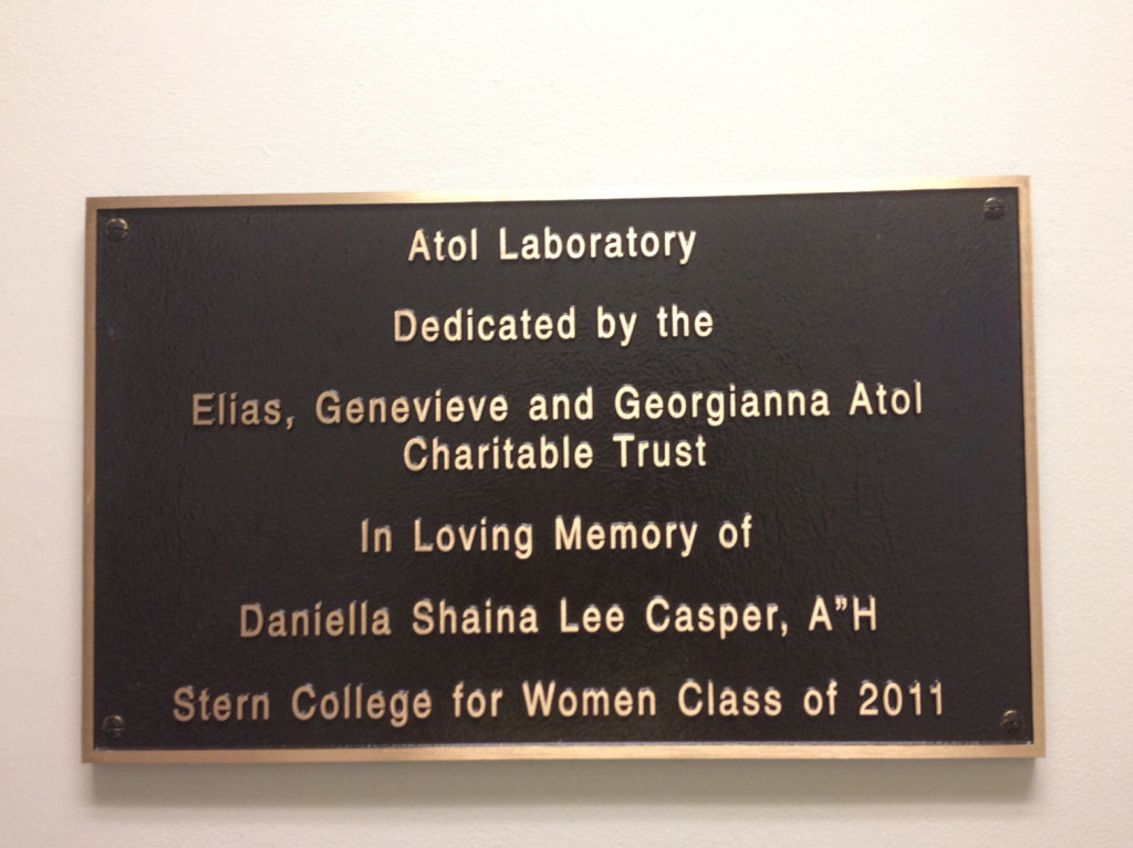 lab plaque