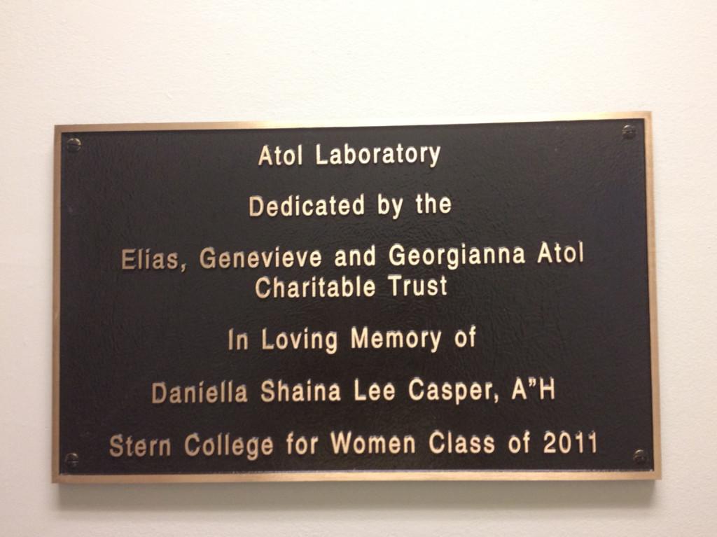 lab plaque